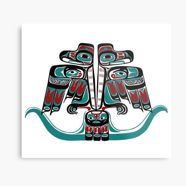 Northwest Native Art Haida Tlingit Thunderbird Metal Print