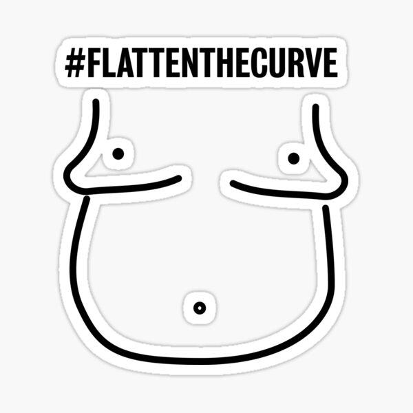 "Humorous interpretation of ""Flatten the curve"" Sticker"