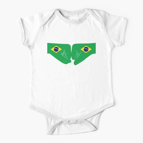 Brazil Fist Bump Patriot Flag Series Short Sleeve Baby One-Piece