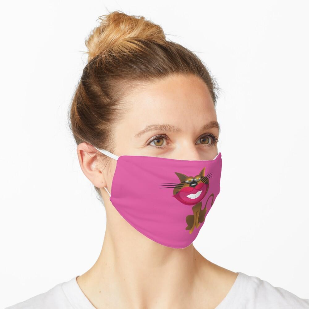 Cartoon Cat Face Mask Mask By Masikwameng Redbubble