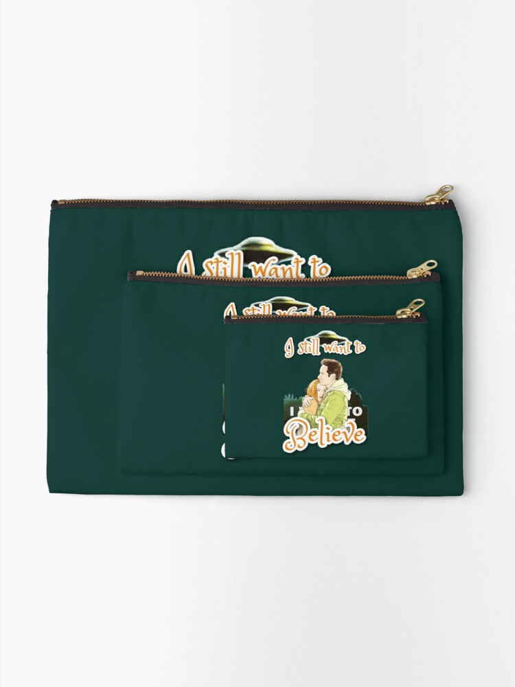 Alternate view of X Files I still want to believe by Mimie  Zipper Pouch