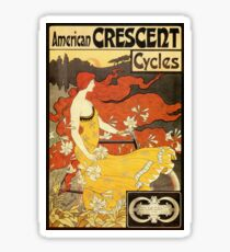 Vintage American art nouveau Bicycles ad Sticker