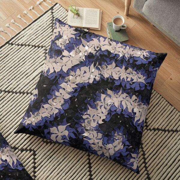 Midnight flowers Floor Pillow