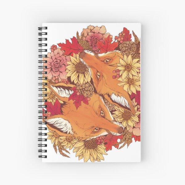 Autumn Fox Bloom Spiral Notebook