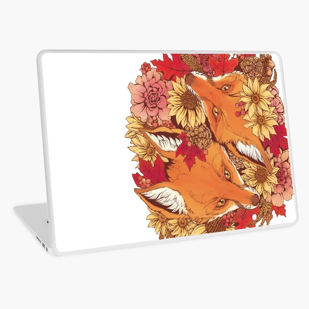 Autumn Fox Bloom Laptop Skin
