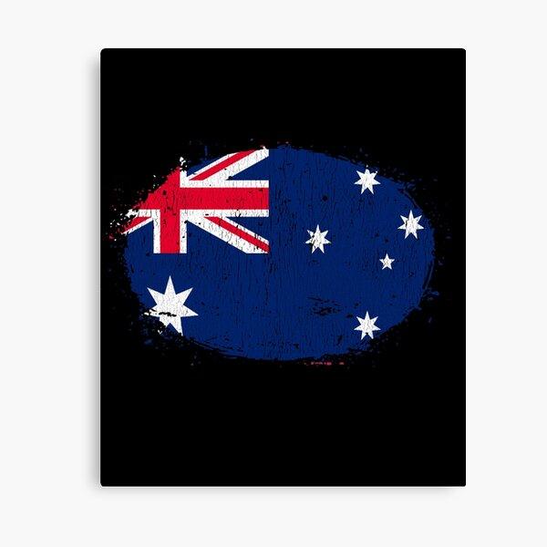 Distrresed Design Australia Flag - Australia Flag Designs Canvas Print