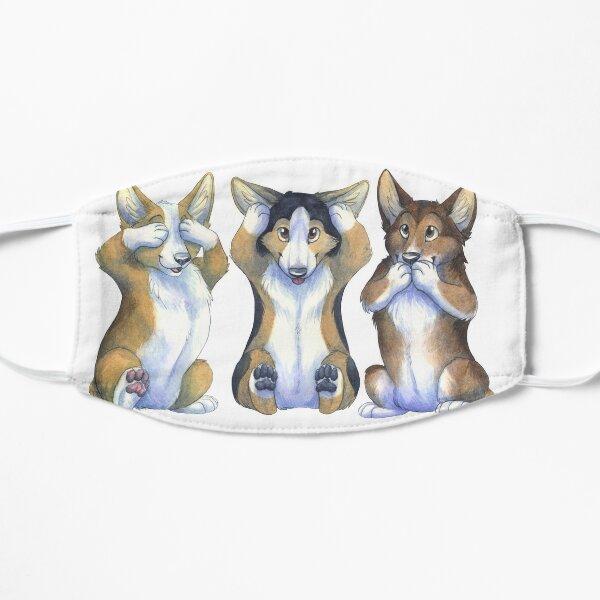 Three Wise Corgis Small Mask