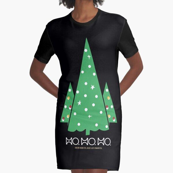HO. HO. HO... Frohe Weihnachten T-Shirt Kleid