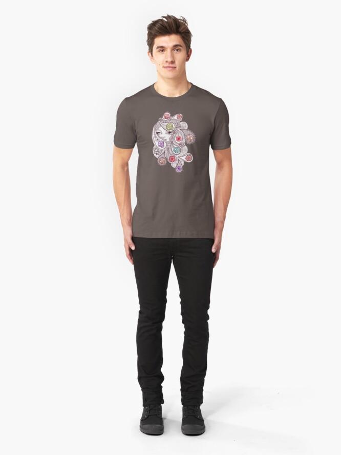 Alternate view of Skeleton Waves Slim Fit T-Shirt