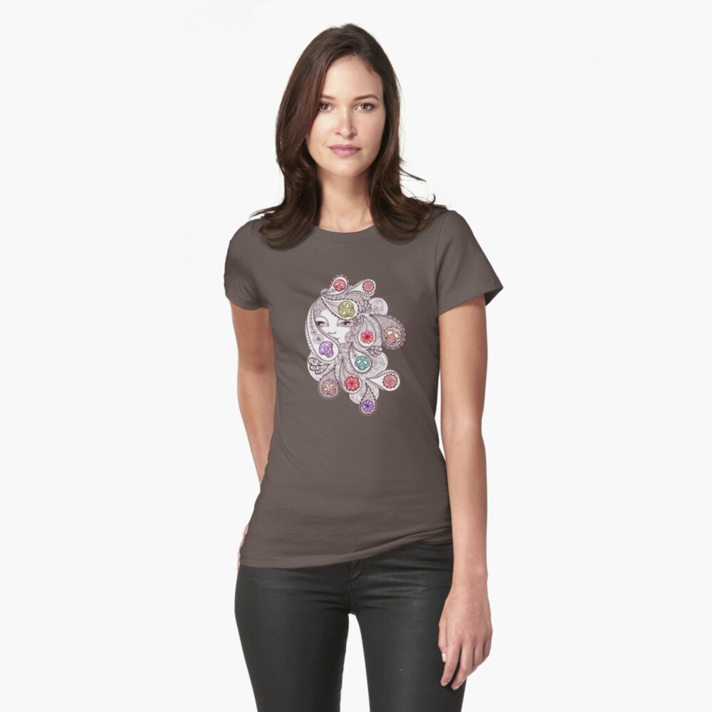 Skeleton Waves Fitted T-Shirt