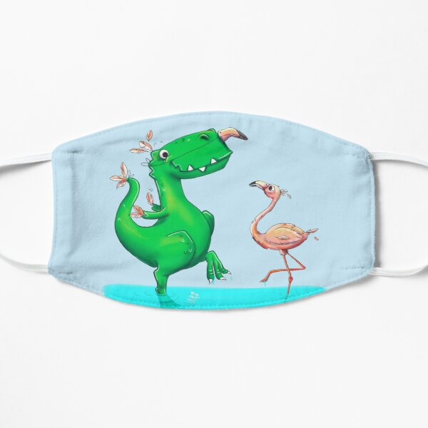 Horst the T-Rex - two birds Flat Mask