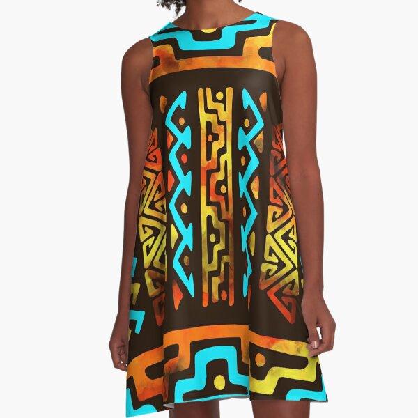 Bold Ethnic pattern A-Line Dress