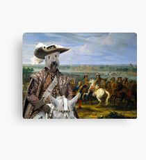 Soft coated Wheaten Terrier Art - Crossing of the Rhine army of Louis XIV Canvas Print