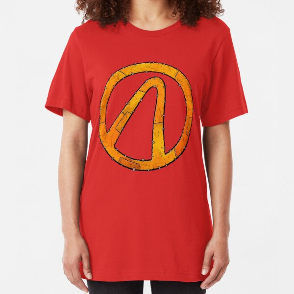 Vault Symbol Stitched - Borderlands Slim Fit T-Shirt