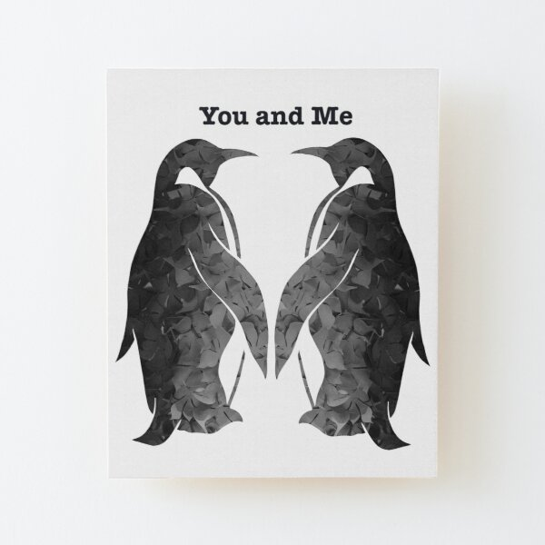 Two penguins Wood Mounted Print