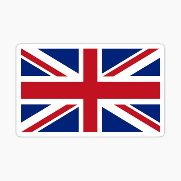Union Jack. Union Flag. Flag of the United Kingdom, Britain, British flag. Pure and simple. Landscape format. Sticker