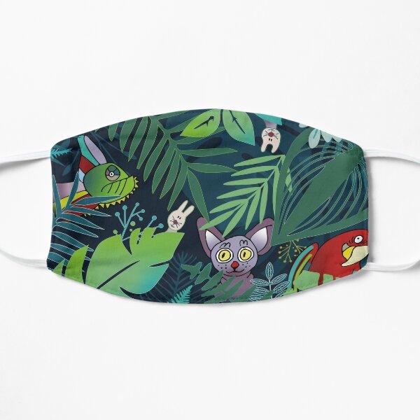 Dschungeltiere und roter Papagei Maske