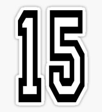 15, TEAM SPORTS, NUMBER 15, FIFTEEN, FIFTEENTH, Competition,  Sticker