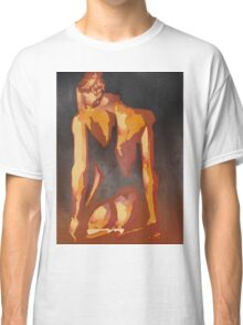 Beautiful Young Woman Wearing Plaits and Panties (Neutral) Classic T-Shirt