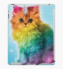 Unicorn Rainbow Cat Kitten Funny iPad Case/Skin