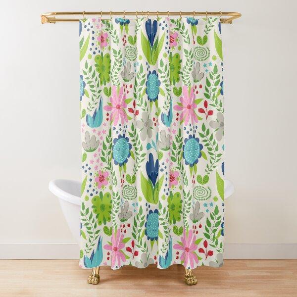 My happy garden Shower Curtain