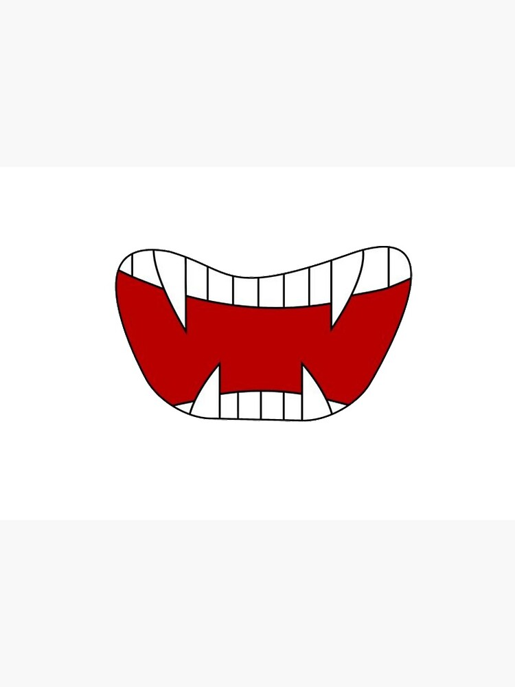 Funny vampire mouth, sharp teeth, Super print on anti-coronavirus protective mask and in a humorous way by Caramel58