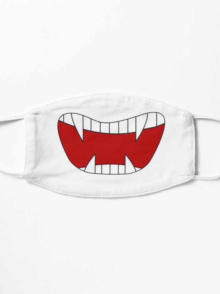 Alternate view of Funny vampire mouth, sharp teeth, Super print on anti-coronavirus protective mask and in a humorous way Mask