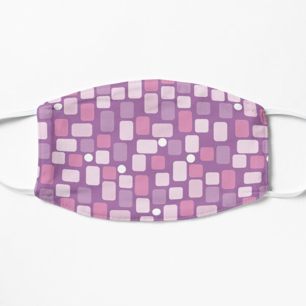 pink and purple rectangles Flat Mask