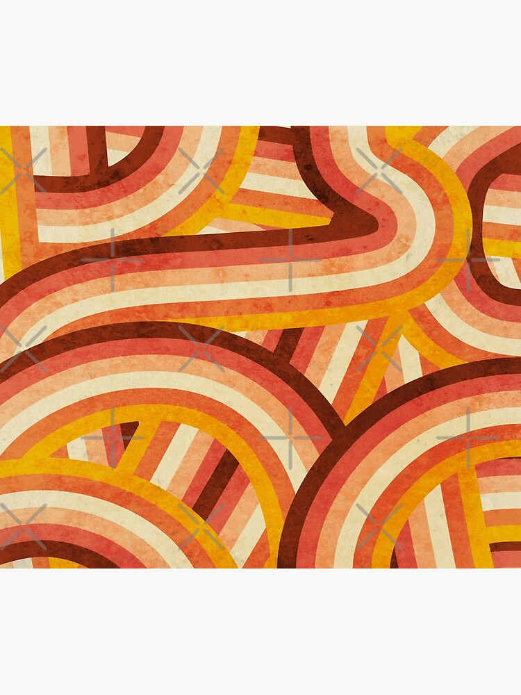 Vintage Orange 70's Style Rainbow Stripes by itsjensworld