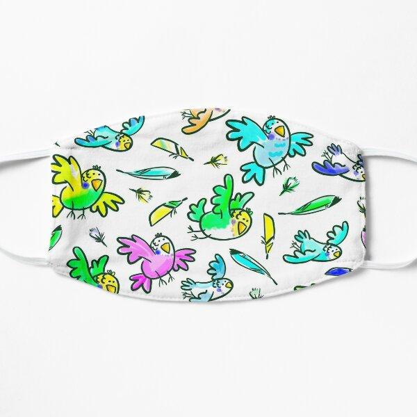 Budgerigar - colorful little birds Flat Mask