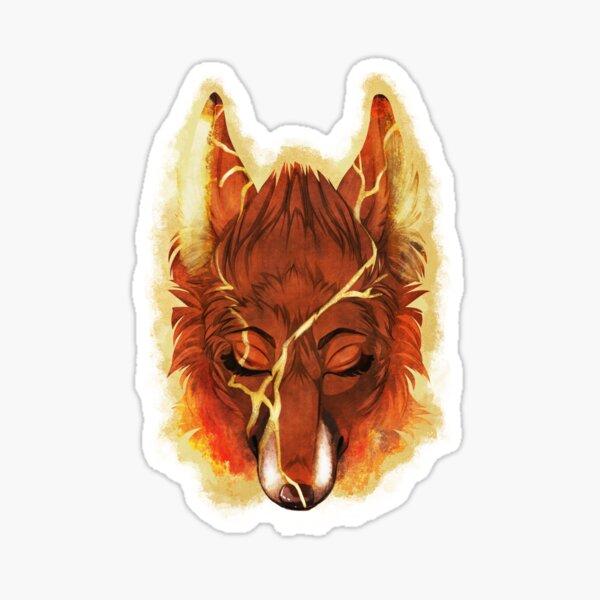 Kintsukuroi Fox Sticker