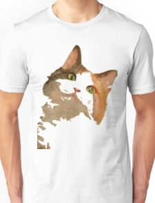 I'm All Ears - Cute Calico Cat Portrait T-Shirt