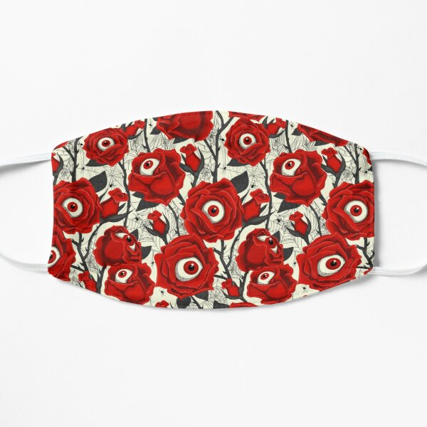 Halloween Roses Eyeballs & Spiders Pattern  Flat Mask
