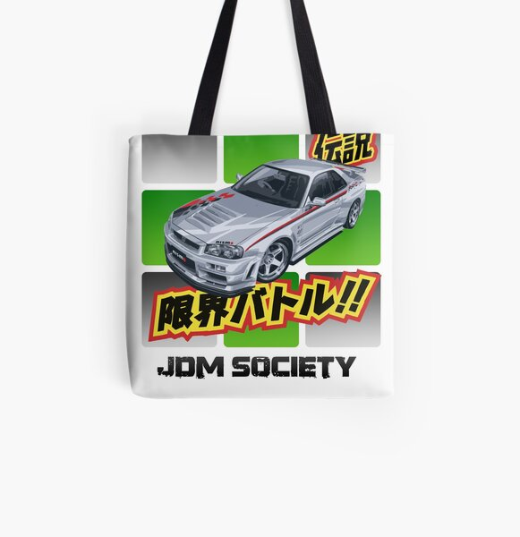 Nismo Z-Tune R34 Skyline GT-R All Over Print Tote Bag