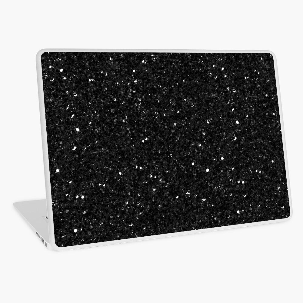 Black Glitter Print Laptop Skin
