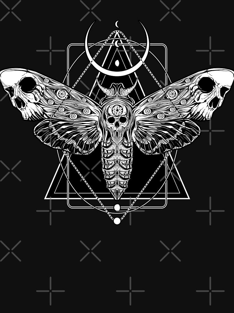 Surreal Death Moth by VonKowen