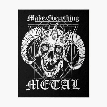 FACEBONES: Make Everything Metal Art Board Print