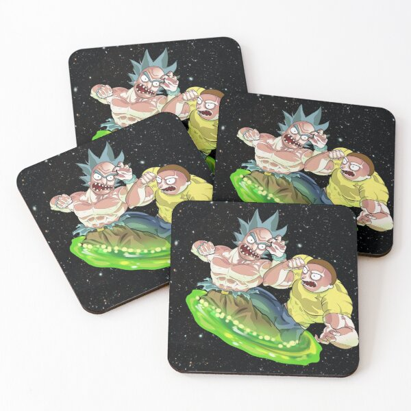 Crossover rick and morthy/ dragon ball  Coasters (Set of 4)