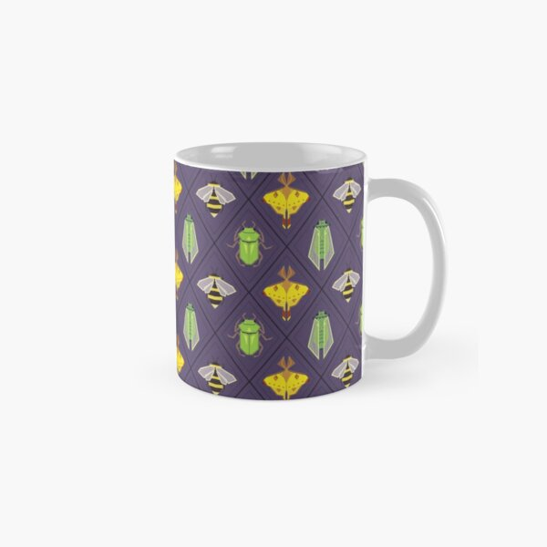 Insecta Geometrica - Geometric Insects Pattern Classic Mug