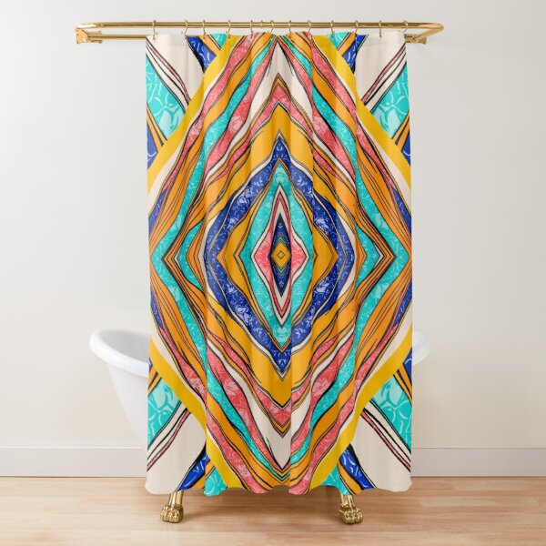 Bright Color Pattern Print Design Shower Curtain