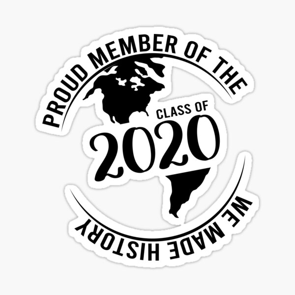 Class of 2020 quarantined, Funny Graduation Gift Seniors 2020 For student, Quarantine Graduation Sticker