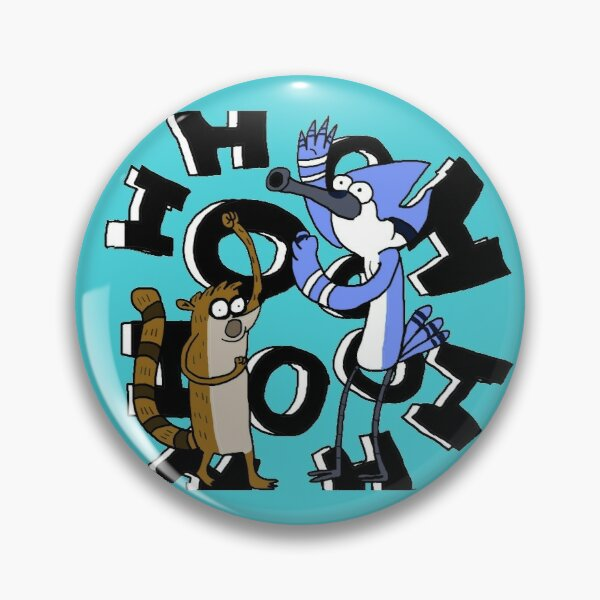 Regular Show 8 pins buttons Mordecai Rigby Skips Pops Mr Meallard