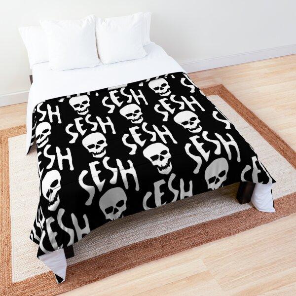 TEAM SESH WHITE LOGO Comforter