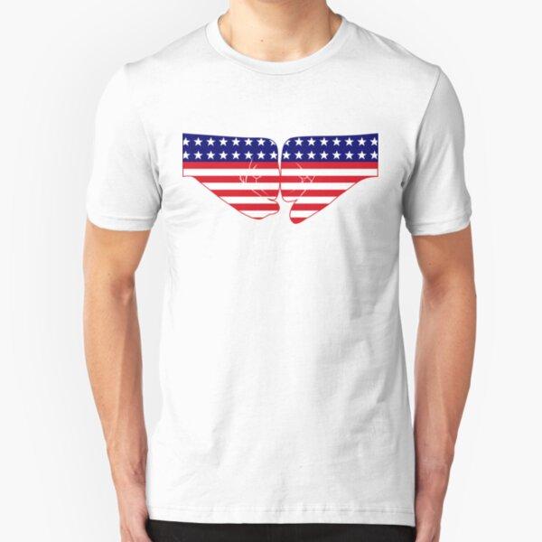 USA Fist Bump Patriot Flag Series Slim Fit T-Shirt