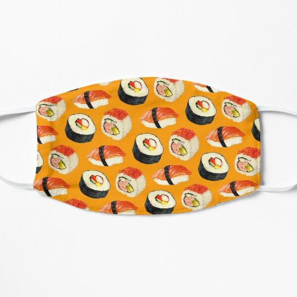 Sushi Pattern - Orange Flat Mask
