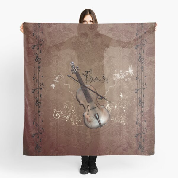 Music, violin with violin bow Scarf