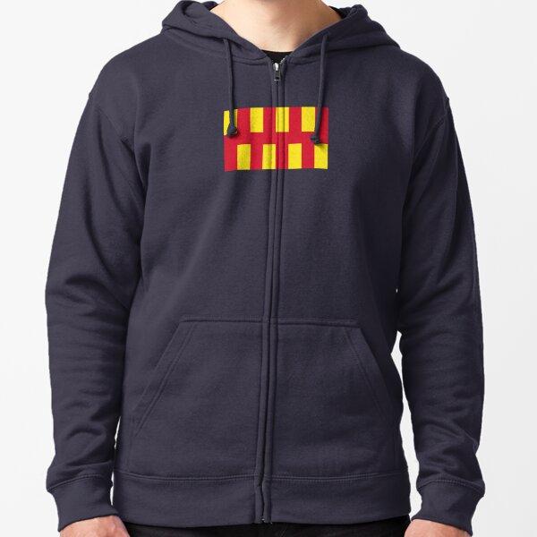 Northumberland flag Zipped Hoodie