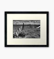 Wooden fence in Friesland Framed Print