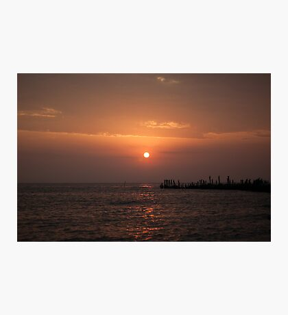 Sunrise at Engure's mols Photographic Print
