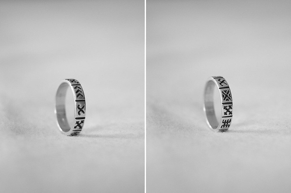 Ring with ancient Latvian signs by Anete Bauere